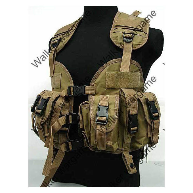 Tactical Navy Seal Combat Modular Assault Vest - Marine Desert Tan