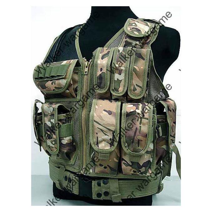 TAC Tactical vest With Belt - Multi Camo