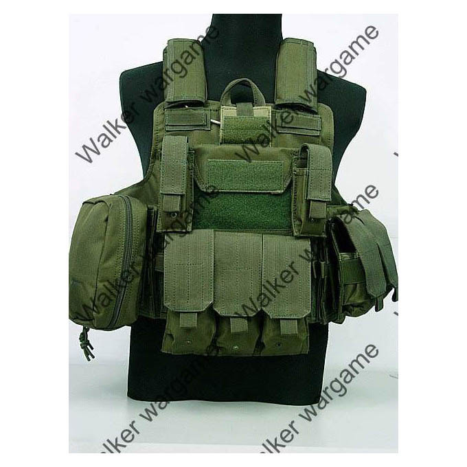 US Force Recon MOD MOLLE Vest - Army OD Green