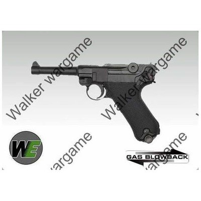 WE WW2 German Officer P08 Luger 4inch Full Metal Gas Blow Back Pistol