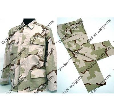 BDU Battle Dress Uniform Full Set - US Army Three Tan Desert Camo