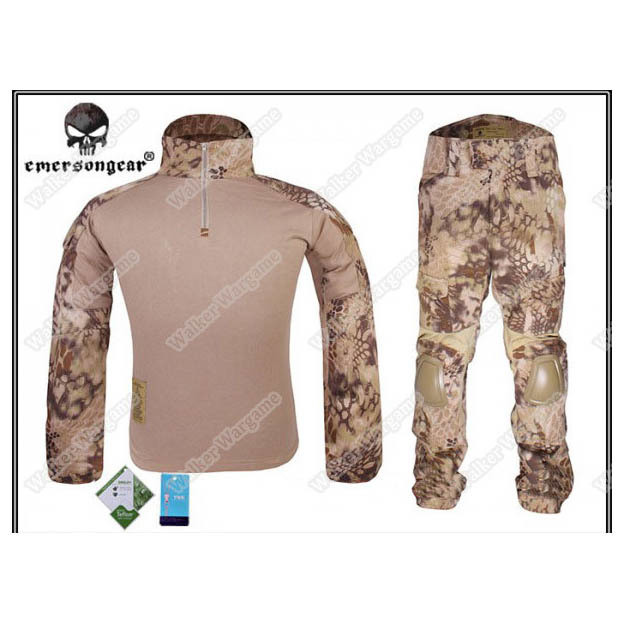 Combat Set Shirt & Pants Build in Elbow & Knee Pads - Special Force HLD Camo (Highlander Camo)