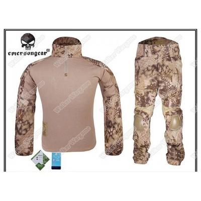 Combat Set Shirt & Pants Build in Elbow & Knee Pads - Special Force HLD Camo (Highlander Camo)