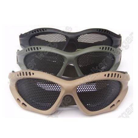 ZERO No Fog Metal Mesh Goggle Glasses - Black, Tan, Multicam