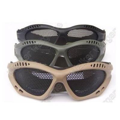 ZERO No Fog Metal Mesh Goggle Glasses - Black, Tan, Multicam