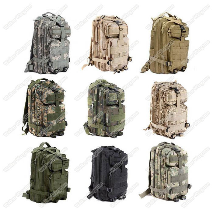 3P Molle Assault Backpack Bag 30L - Multi Color