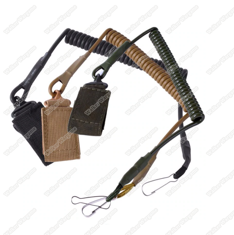 Tactical Pistol Hand Gun Spring Lanyard Sling  (Multi-Color)
