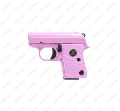 WE CT25 Colt Model 1908 Vest Pocket Mini Airsoft GBB Pistol - Pink