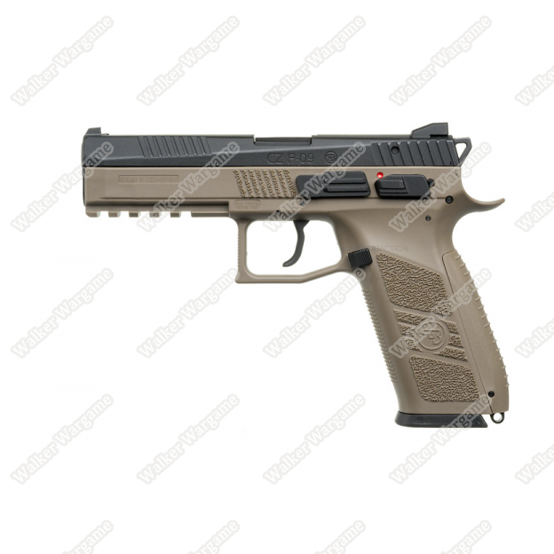 KJ Works CZ75 P09 Duty Airsoft Green Gas Blow Back Pistol - Tan