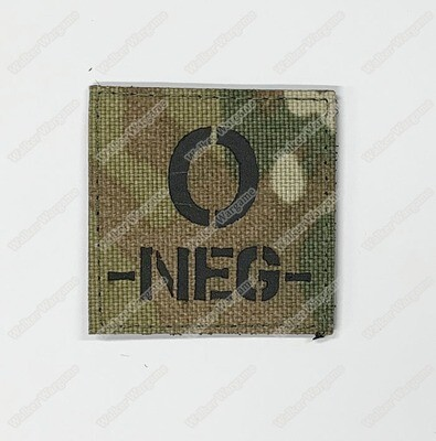LWG020 O NEG Blood Type Multicam - Laser Cut Patch With Velcro