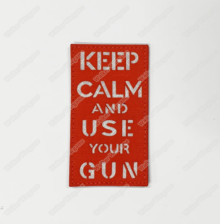 LWG002 Keep Calm Use Gun EDC - Laser Cut Patch With Velcro