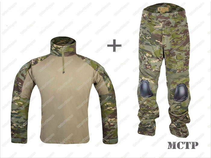 Combat Set Shirt & Pants Build in Knee Pads - Multicam Tropic MCTP