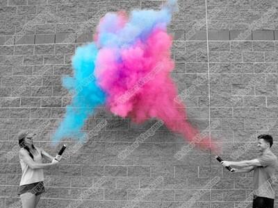 Gender Reveal Smoke Bombs Boy or Girl -  2 Blue and 2 Pink Smoke Boom Set