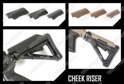 Tactical BD MP Cheek Riser For MOE And CTR Stock - Black Tan