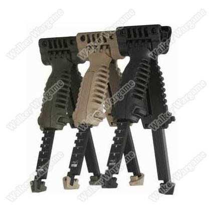 BATTLEAXE Bipod Foregrip Grip - Black Tan