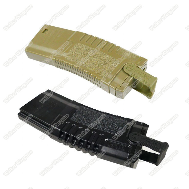 ARES Amoeba S Class 300rds M4 / Hi Cap Airsoft AEG Rifle Magazine With Puller - Black & Tan