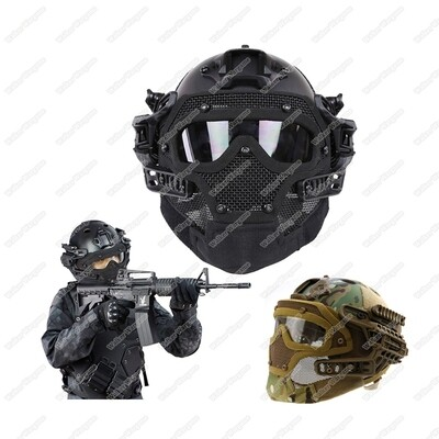 WST Airsoft Warrior System - Steel Wire Face Protective ,Fastjump Helemt