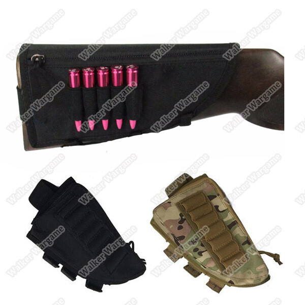 Shotgun Rifle Ammo Pouch Cheek Pad - Black & Multicam