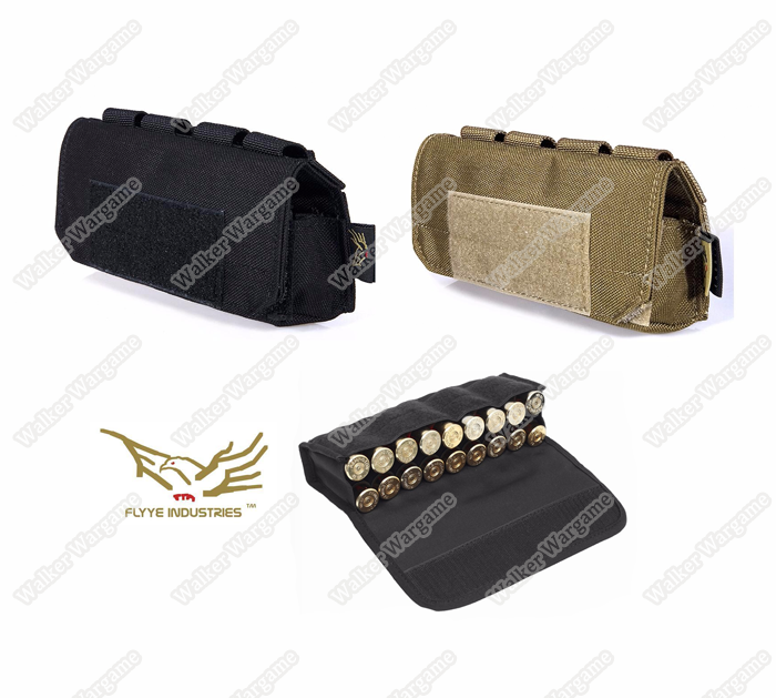 Flyye MOLLE Shotgun Shells Pouch -  Black & Tan