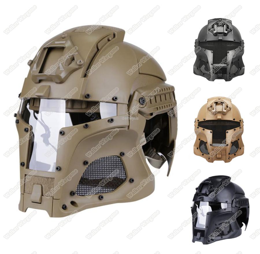 Tactical Samurai Airsoft Mask With Helmet - Desert Tan