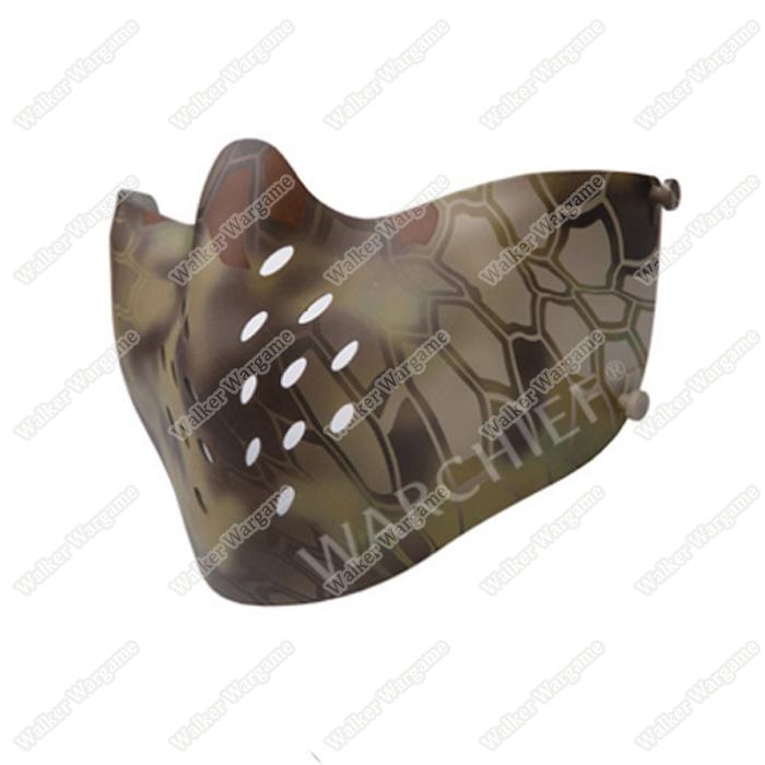 Warchief Lightweight M07 Tactical Half Face Combat Airsoft Mask - Mandrake Camo MR