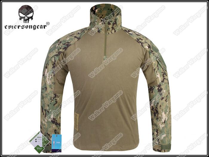 Emerson G3 Combat Shirt - NAVY SEAL AOR2 Digital Woodland
