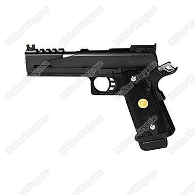 WE HI CAPA 5.1 IPSC Green Gas Blow Back Pistol Special Hole Version - BL