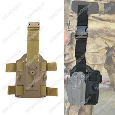 Tactical Drop Leg Mag Holster Panel Leggings Device Dual Strap Thigh Holster Bag Pouch Leg Pistol Holster