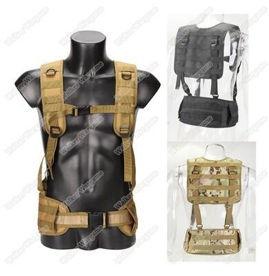 028 Tactical Molle Girdle Belt Set with Shoulder Strap Simple Vest