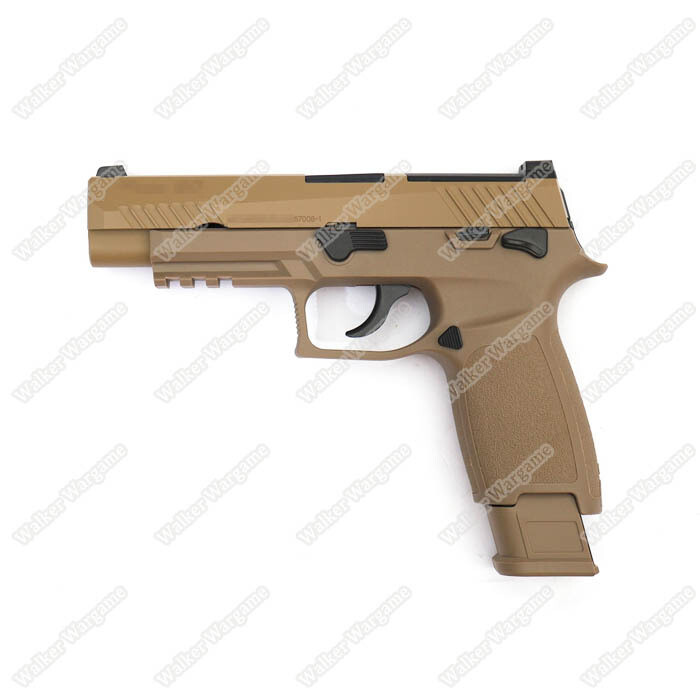 WE Tech SIG P320 M17 Green Gas GBB Pistol F17 - Tan