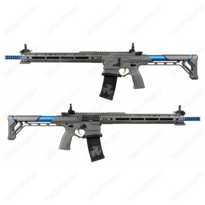 ETA Mid NOV - - G&G BAMF Team Cobalt Kinetics M4 Advanced ETU Airsoft Rifle Grey / Blue