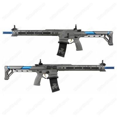 G&G BAMF Team Cobalt Kinetics M4 Advanced ETU Airsoft Rifle Grey / Blue