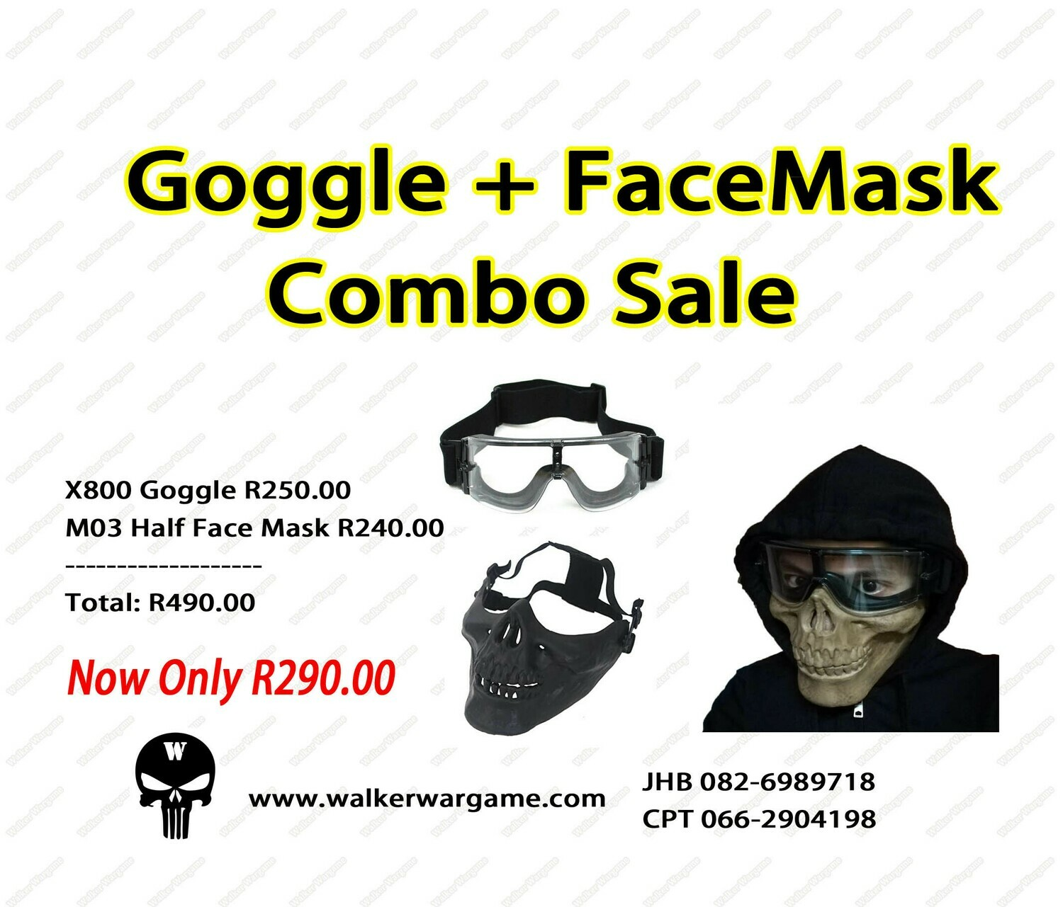 Goggle + Facemask Combo Sale - Save R200.00