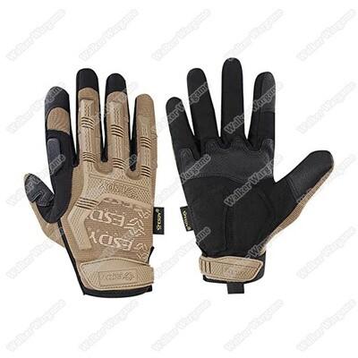 ESDY MPact Tactical Full Finger Gloves - Desert Tan