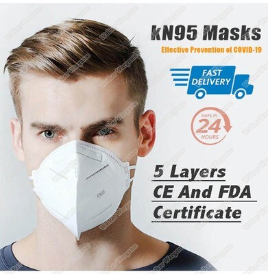 Jiesi KN95 Daily Protective Face Masks 5 Layer FDA , CE Certifications