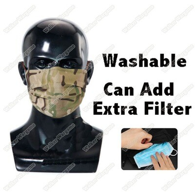 Tactical Anti Epidemic Face Mask Washable  - Multicam  ( Protect Against COVID19 ) Gen2