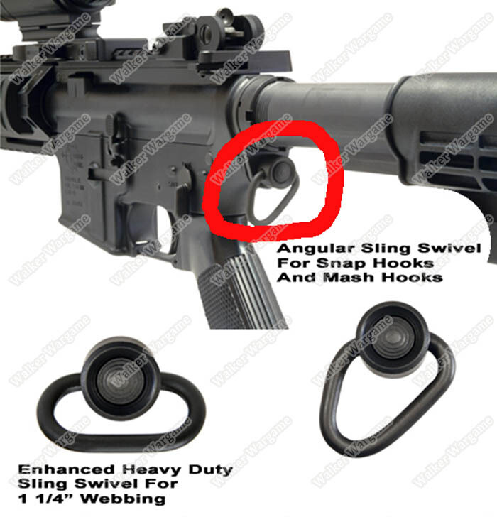 QD Buff Tube Sling Mount For M4 Gas and Real M4 AR Receiver End Plate Sling Mount