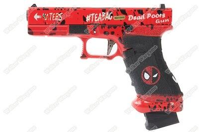 Ascend Deadpool Glock DF17 DP17 Gas Blowback Pistol - Force Trigger (by WE)
