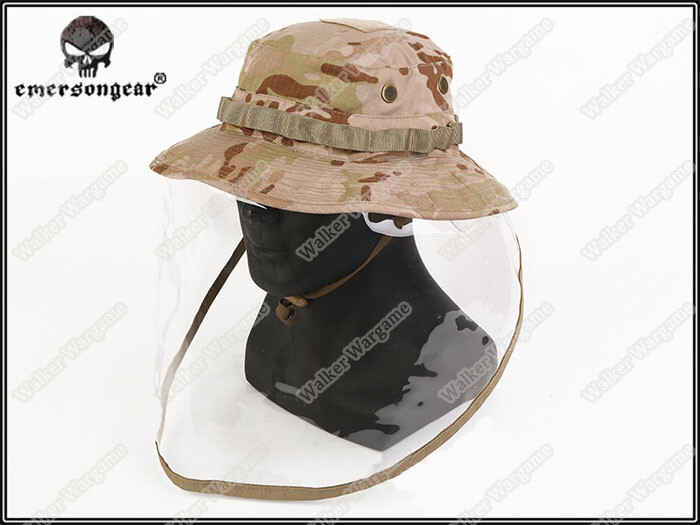 Emerson Boonie Cap With Face Shield - US Army Multicam Arid MCAD