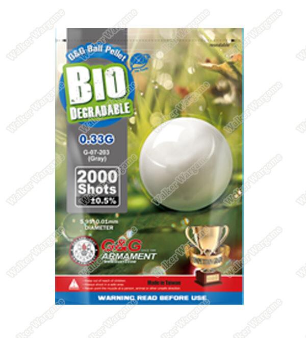 G&G 0.33g High Quality Precision Grade Biodegradable BB - 2000rds