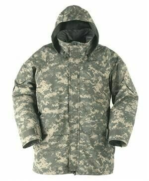 Original US Amry Gore-Tex Parka GEN II Cold Weather Universal Camouflage ACU Size S