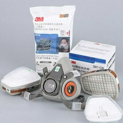 3M 6200 gas mask half face respirator industry dust mask with filter