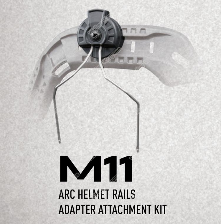 M11 EARMOR ARC Fastjump Helmet Rails Adapter Attachment Kit for Earmuff
