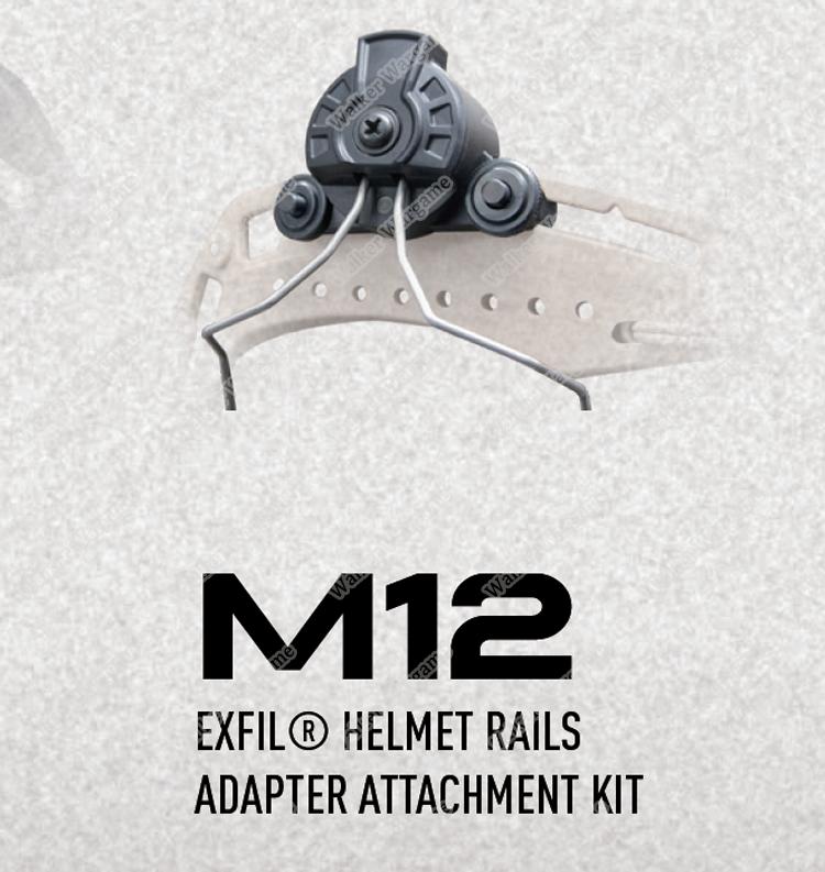 M12 MK Helmet (Team Wendy Helmet) Rails Adapter Attachment Kit for Earmuff
