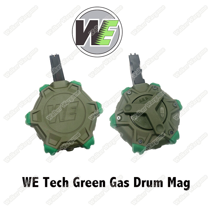 ETA Mid Nov 2020 - WE​ 350rds Manual Winding System Green Gas Drum Magazine  Hulk Edition