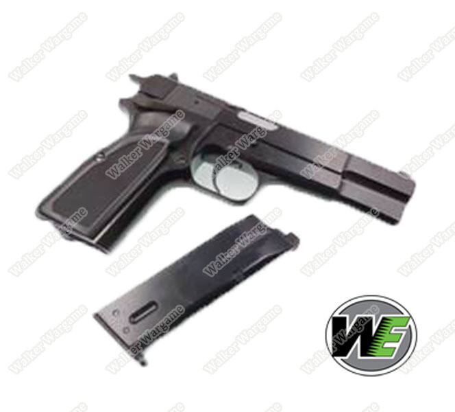 WE Browning Hi-Power MKIII Green Gas Blow Back Pistol GBB