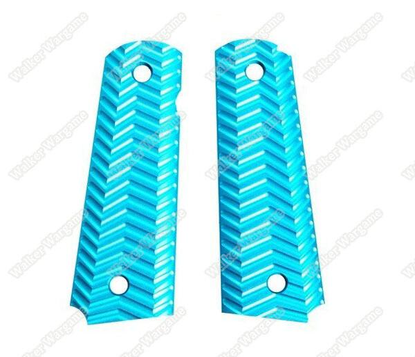 FMA Aluminum TYPE C Grip Panels for Colt 1911 Pistols - Blue