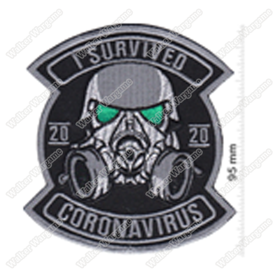WG132 I Survived Coronavirus Chapter Morale Patch With Velcro - Full Color