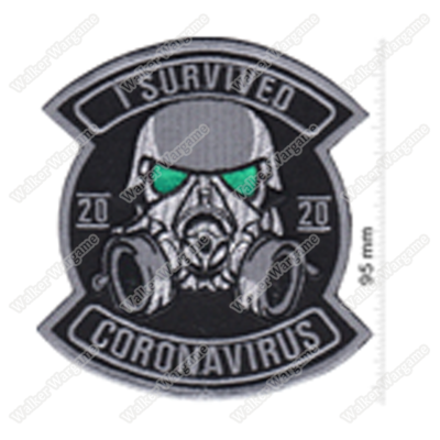 WG132 I Survived Corona Virus Chapter Morale Patch With Velcro - Full Color