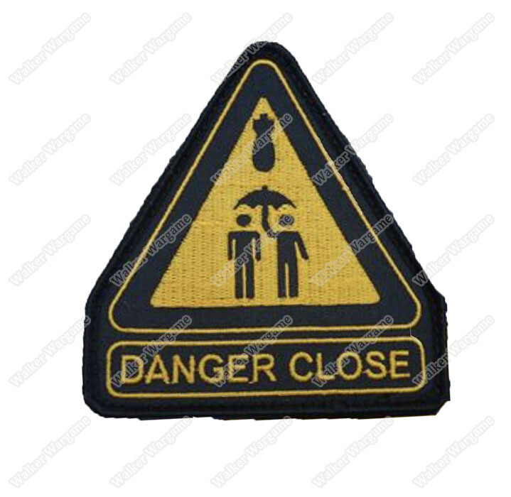 WG135 Danger Close Chapter Morale Patch With Velcro - Full Color